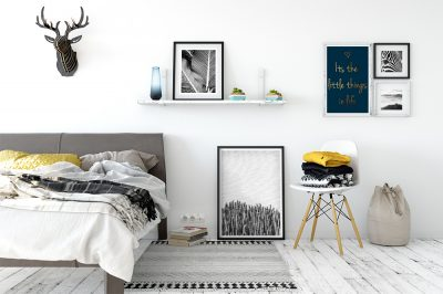 Bedroom Decor, Froilein Juno, black and white Gallery wall