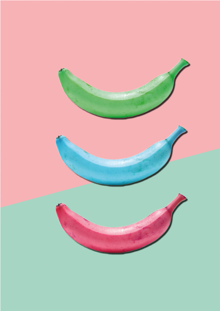 Banana Poster, banana colourful print, Banana pastel, Banana kitchen Art, Banana modern art, Banana Wall art, Bananas, Banarama,