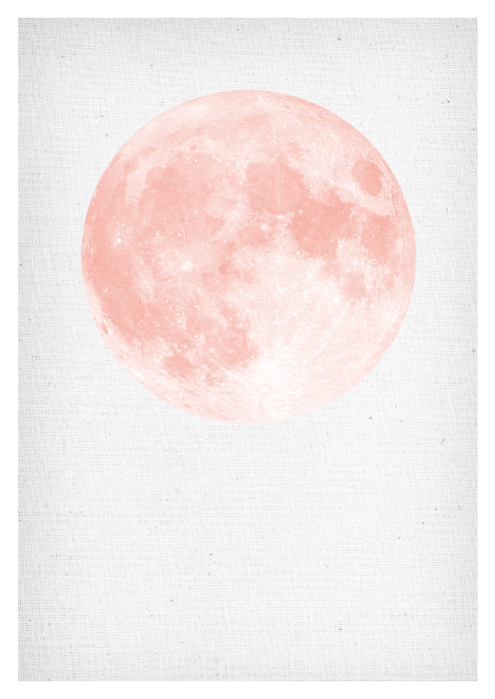 MOON PRINTABLE Moon Print Moon Wall Art Moon Wall Print Digital Moon Print blush rose Full Moon Moon Printable nordic scandinavian Wall Art
