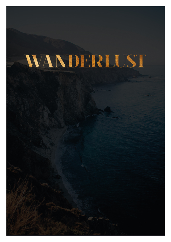 Wanderlust Print Travel Print Travel Poster Travel quote Inspirational Poster Scandinavian Wall Art Copper Poster black wanderlust decor