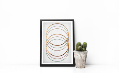 Rings print Copper Wall Art Copper Print abstract poster scandinavian Art minimalism poster modern art print geometrical print copper decor